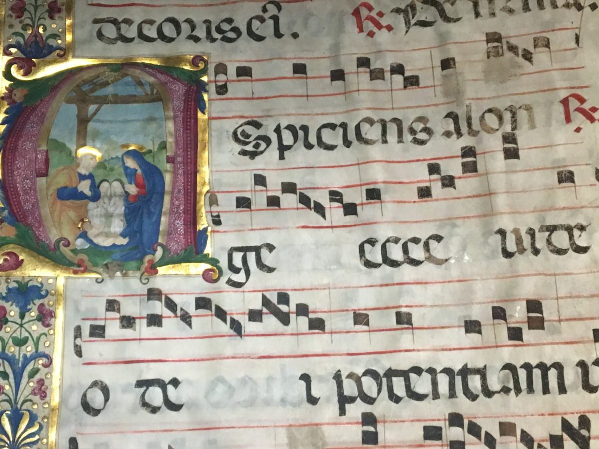Ms San Marco 566 iniziale A 1558 attribuita a Plautilla Nelli