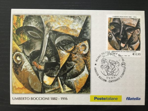 Cartolina postale Umberto Boccioni