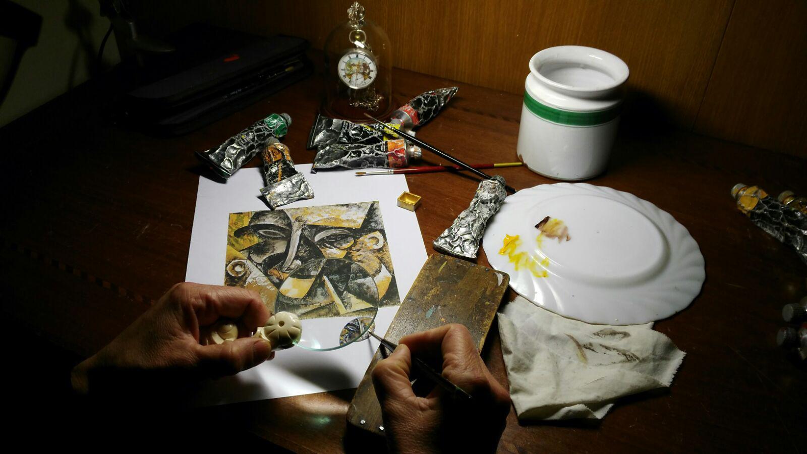 Orologio Novecento (Umberto Boccioni) fatto a mano
