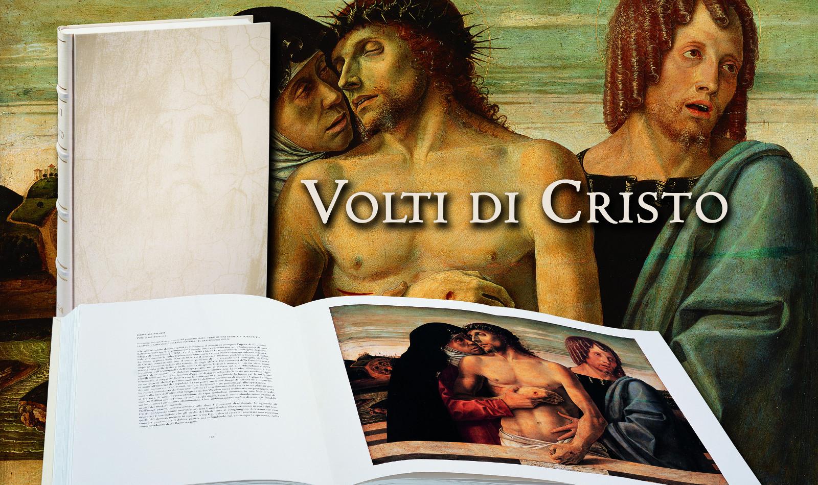 Volume aperto con sfondo Pietà Bellini