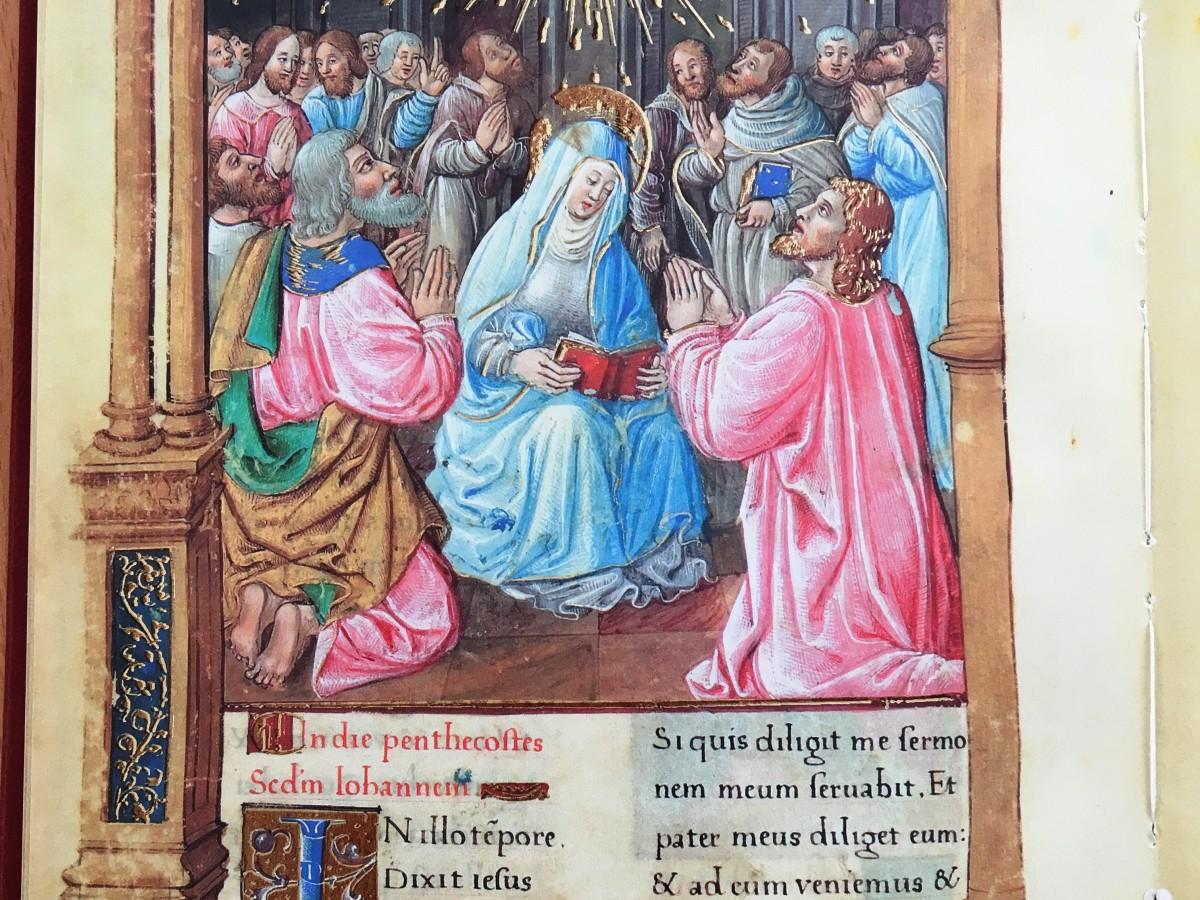 "Codice Valois c.69r ""Pentecoste"""