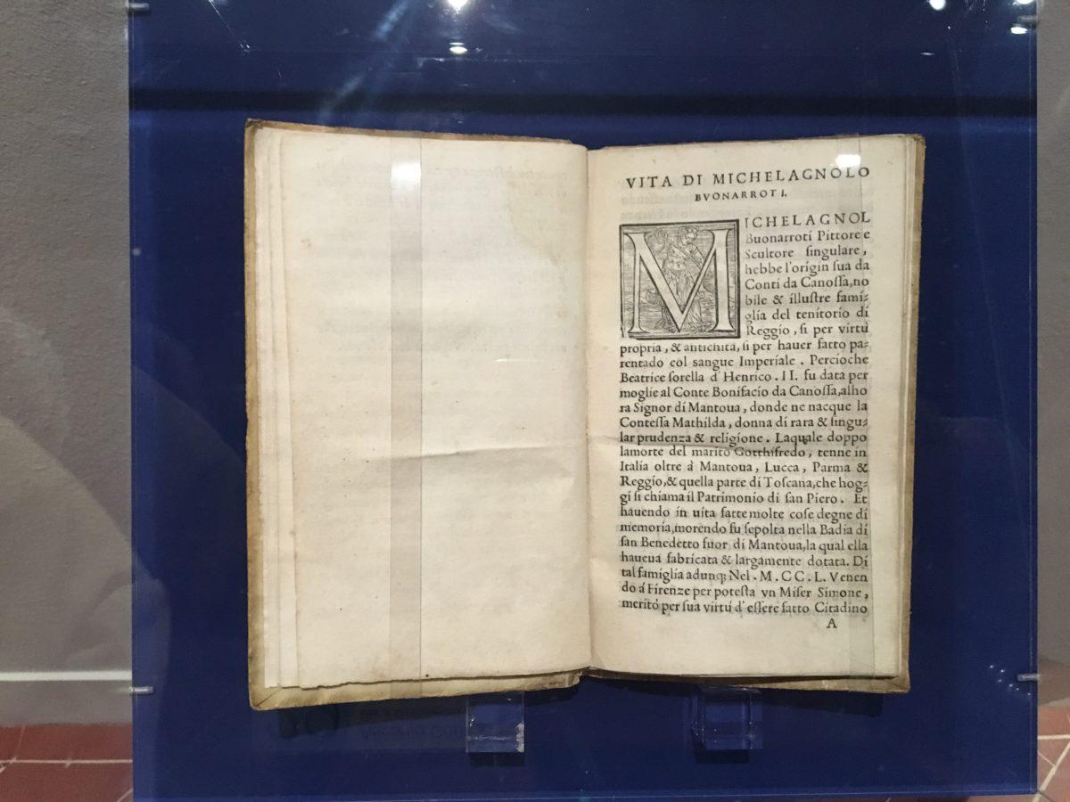 Ascanio Condivi , Vita di Michelagnolo Buonarroti 1553 Casa Buonarroti