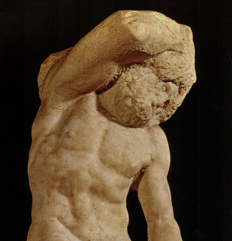 Schiavo Barbuto - Particolare- Michelangelo