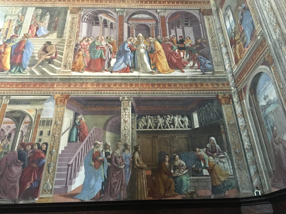 Particolare degli affreschi della Cappella Maggiore in Santa Maria Novella