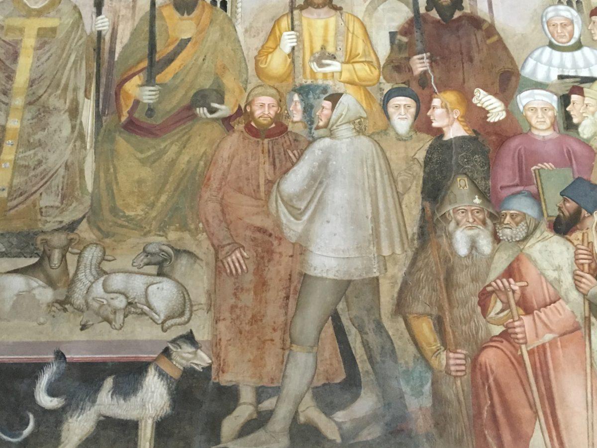 Andrea di Buonaiuto - particolare dell'affresco nel Cappellone degli Spagnoli in S. Maria Novella