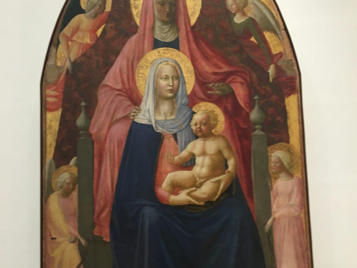 """Masaccio e Masolino """"Sant'Anna Metterza"""" 1424-1425 , Firenze Galleria degli Uffizi"""