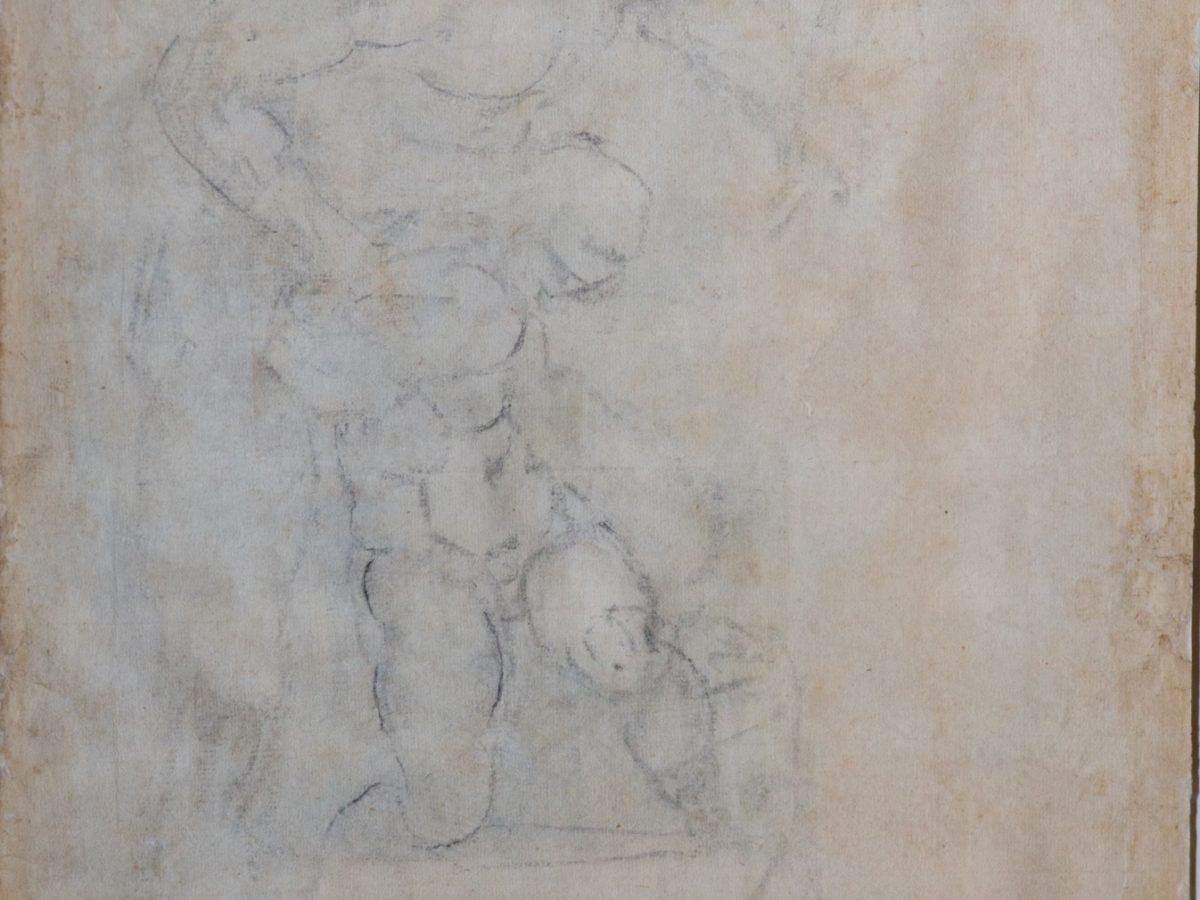 Michelangelo Buonarroti - Sacrificio di Isacco verso